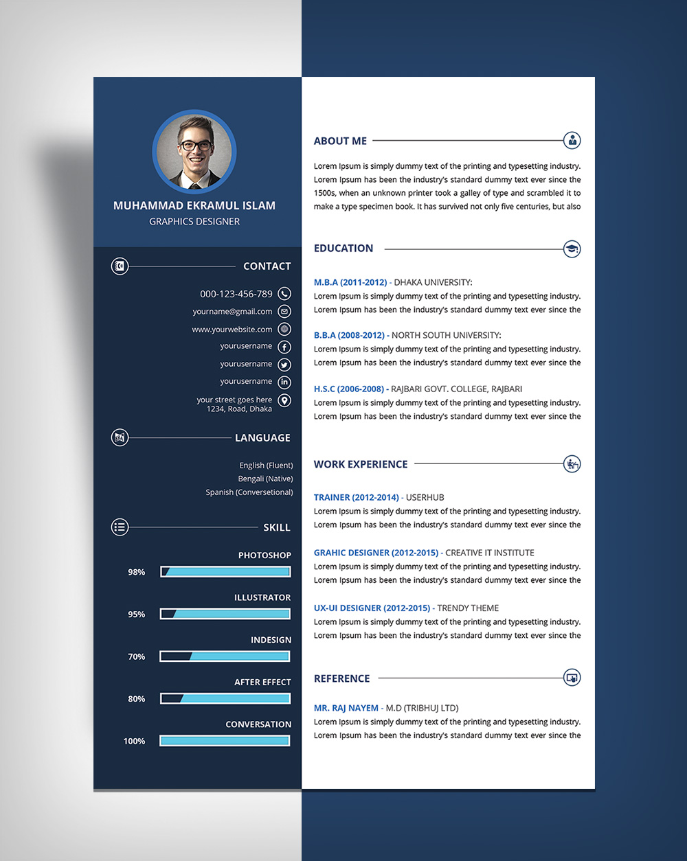 make a resume in photoshop free resume builder