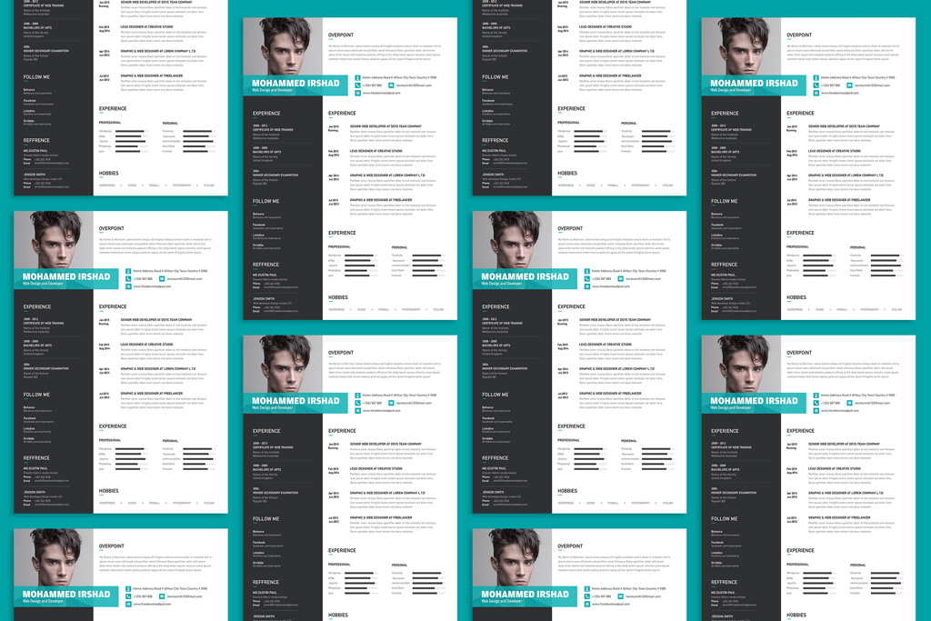Free Modern Resume (CV) Design Template PSD File - Good Resume - modern resume