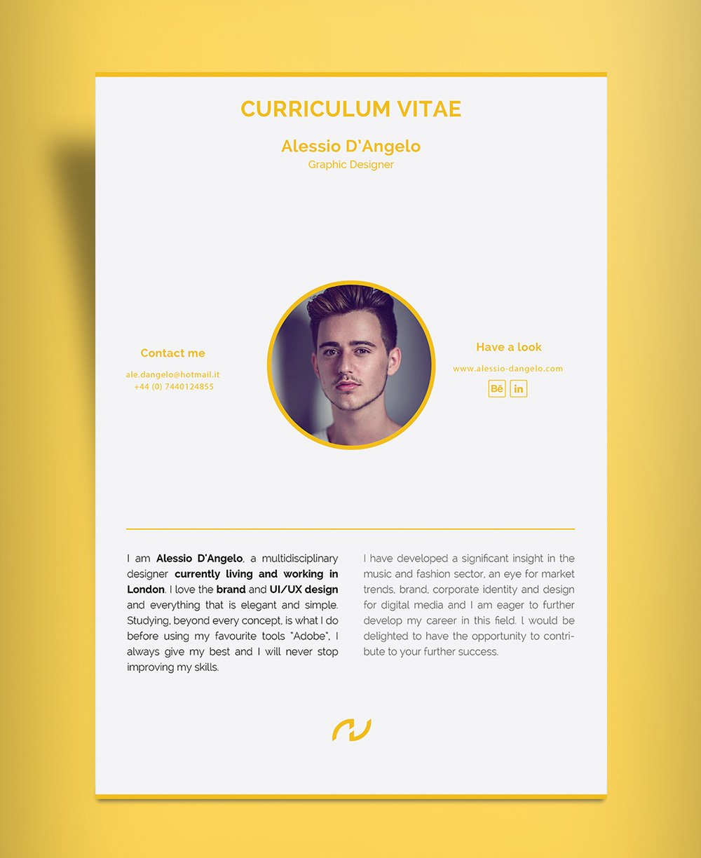 cv template design ai