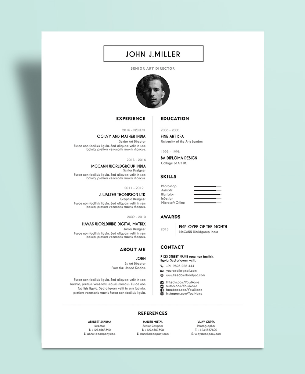 Layout For Resume Template Resume Outline Layout Blank Template Outlines Free Simple And Minimal Layout Resume Cv Design Template