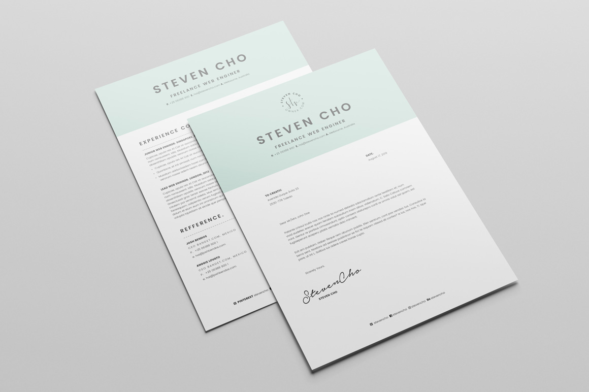 Credit Information Cover Letter Template Sample Form Free Minimalist Resume Cv Design Template With Cover