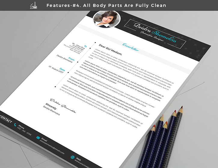 Free Professional Resume (CV) Design Template With Cover Letter PSD - professional resume design templates