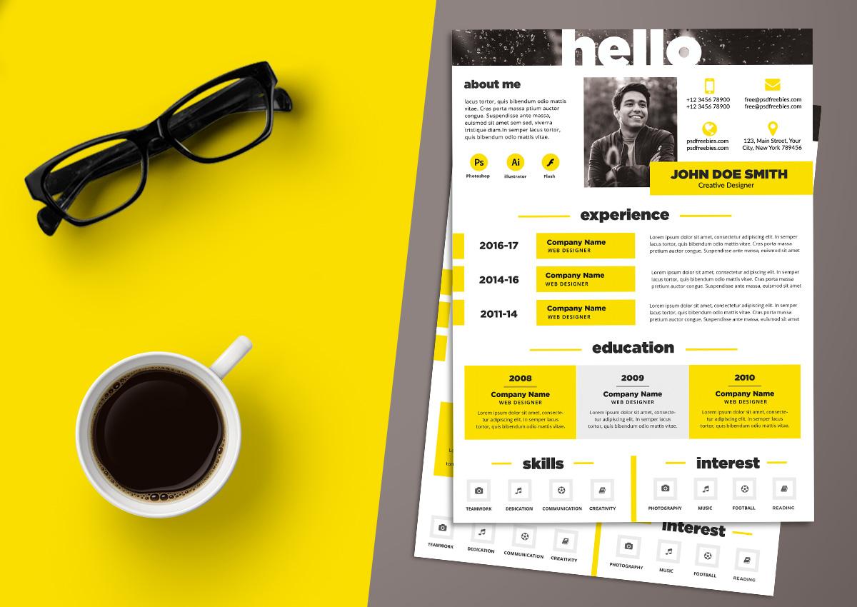 cv examples graphic design