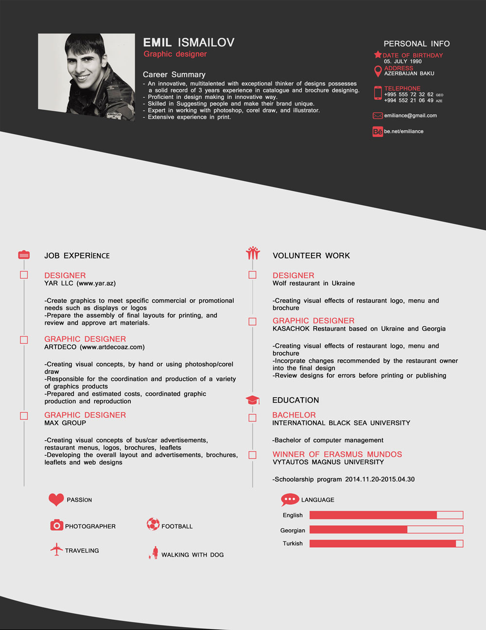 free cv template download psd