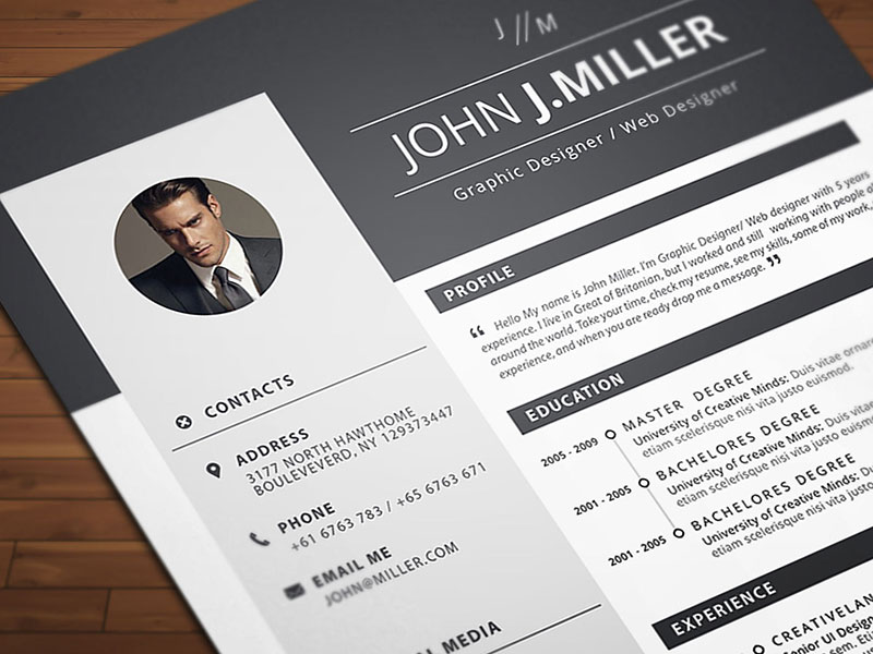 Free Download Resume (CV) Template For MS Word Format - Good Resume