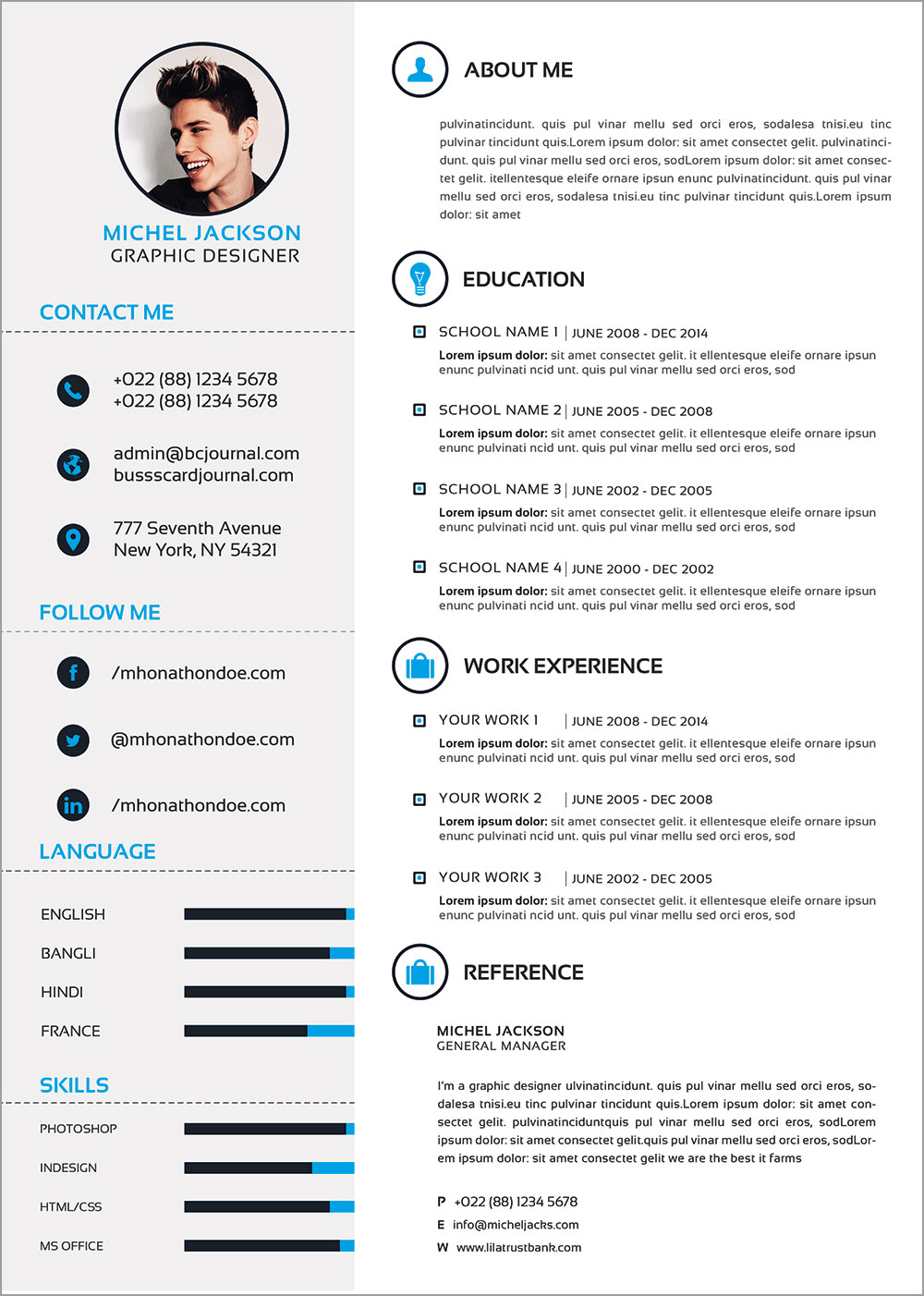 free cv template graphic design