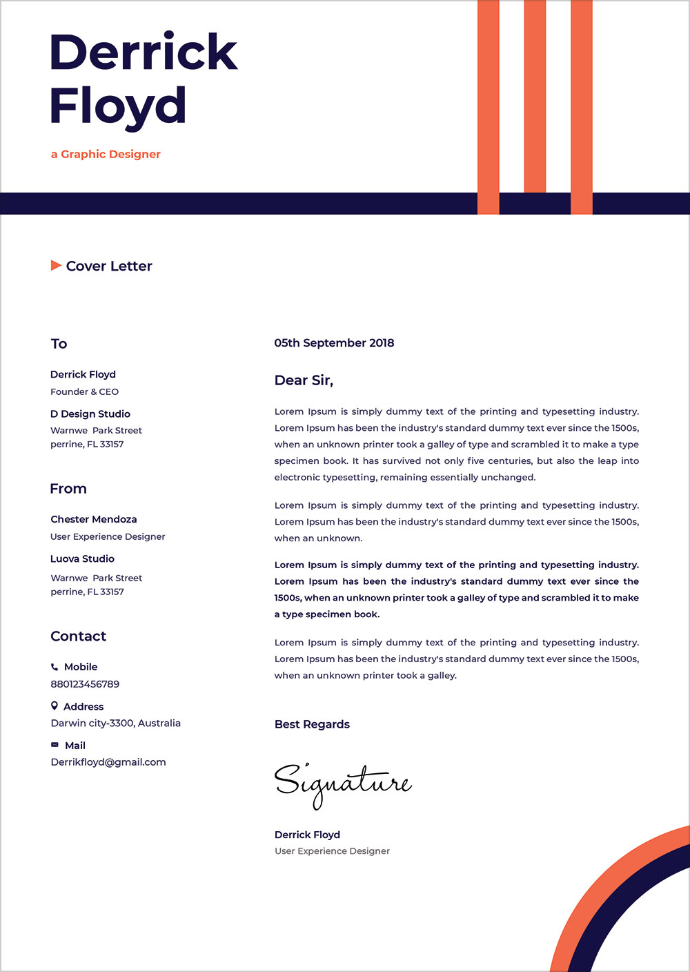 professional letter format word
