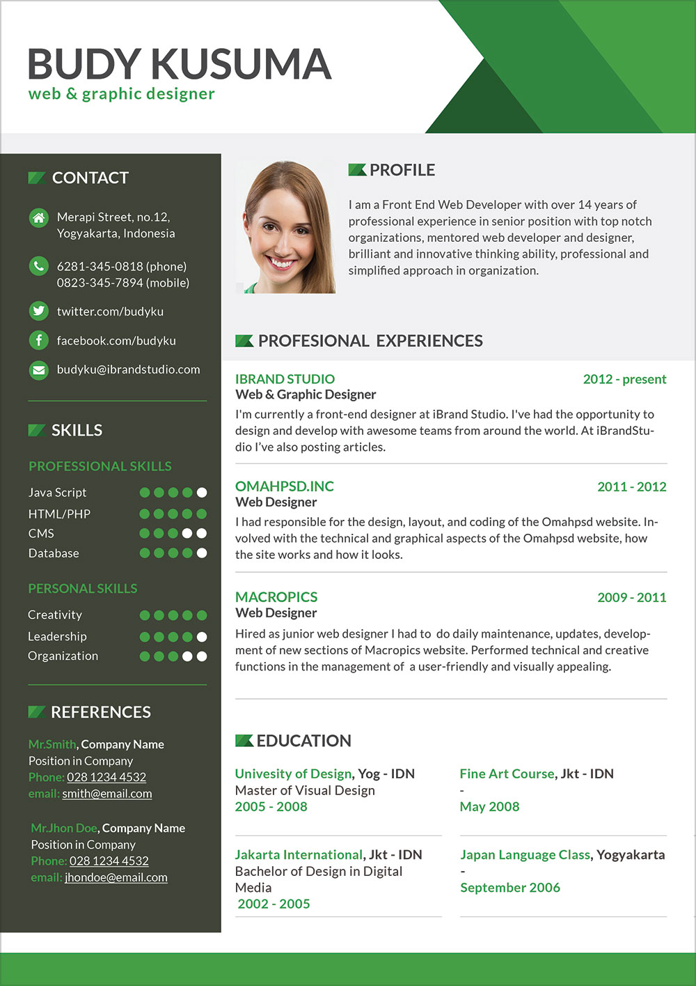best free resume templates for developers