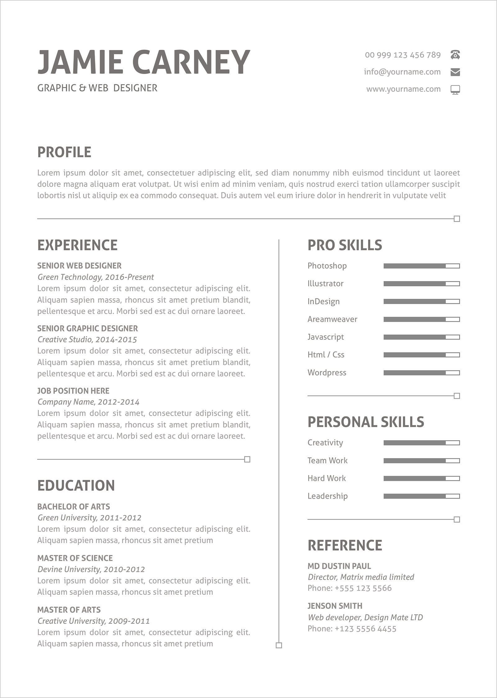 best microsoft word resume template for designers