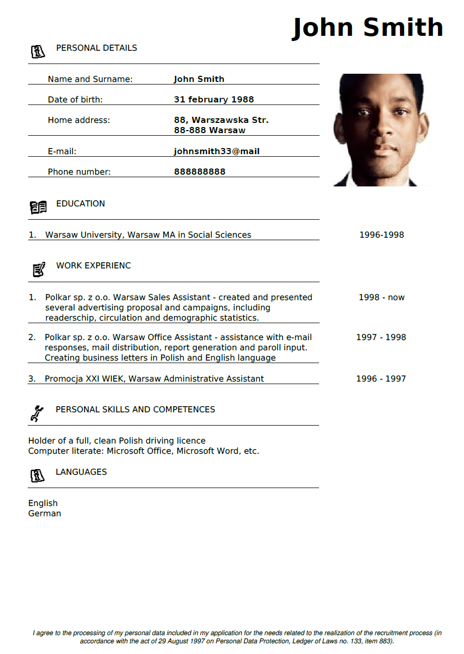 generate pdf cv from html