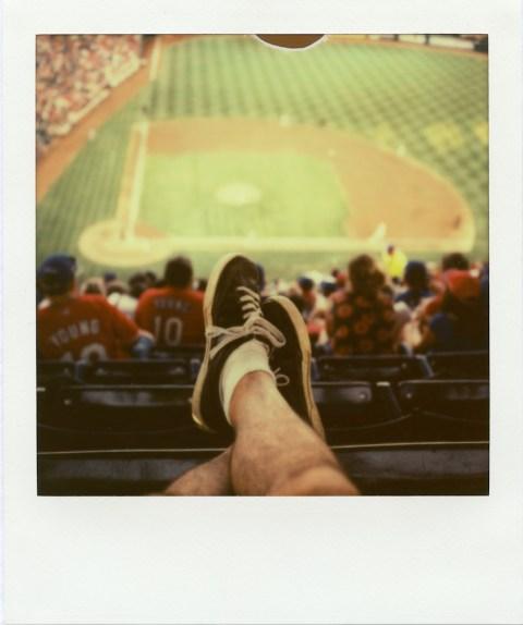 The Ballpark in Arlington - Polaroid SX-70 - Impossible Project PX-70 V4B