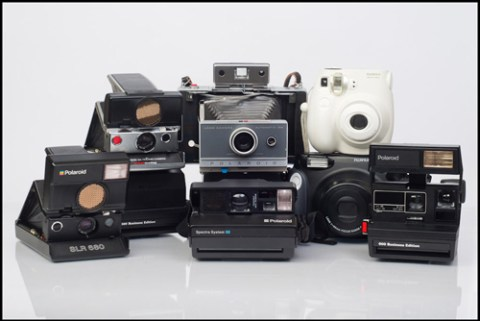- A variety of cameras that shoot instant film -