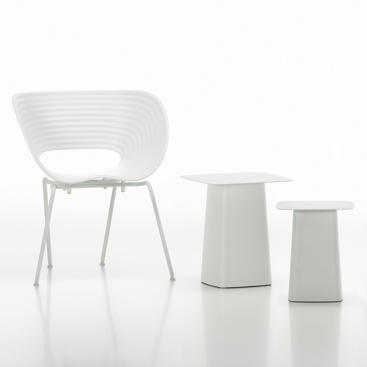 Stuhl Vitra Vitra Tom Vac Stuhl Weiss - White Collection | Von Goodform.ch