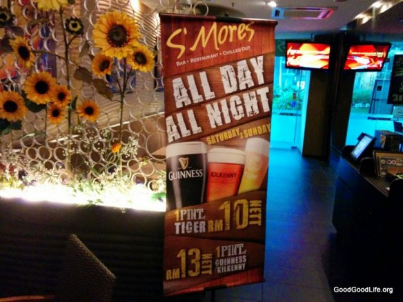 $10-$13 beer offer all day long, during weekend @ Smores
