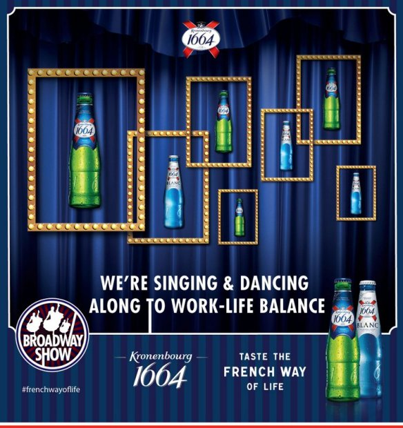 Kronenbourg 1664 Broadway Night - photo