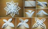 How To Make Paper D Snowflake Craft