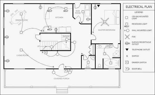 house wiring plan sample