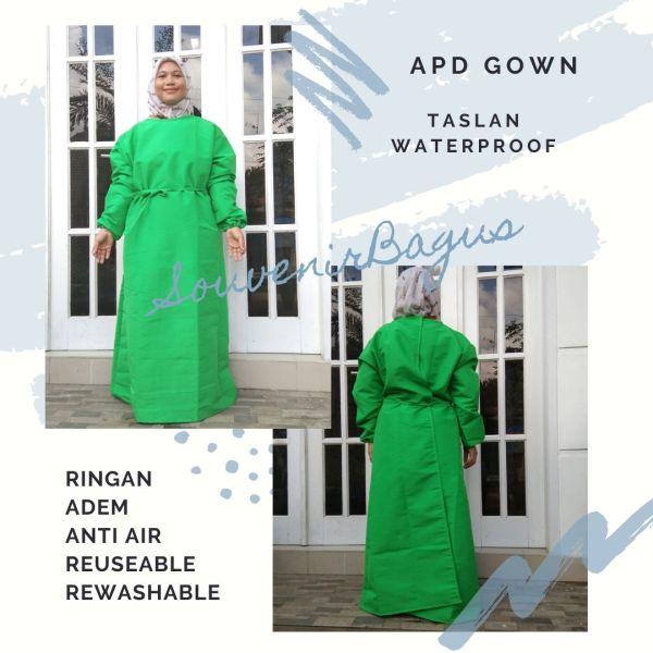 Jual Gown APD Gown OK Baju Operasi Taslan Waterproof Alat pelindung diri baju dokter tenaga medis  jakarta