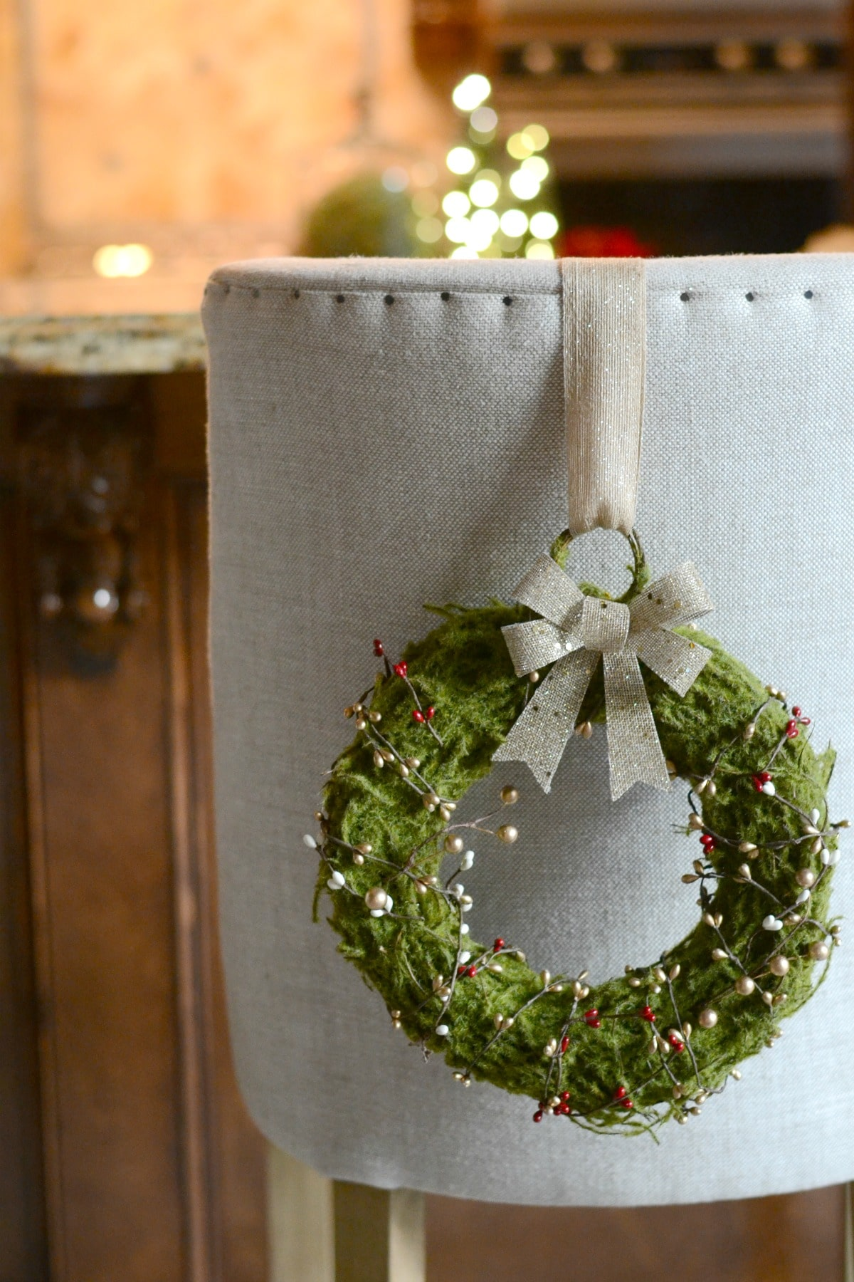 Diy Wreath Supplies Diy Christmas Wreaths For Dining Chairs Good And Simple