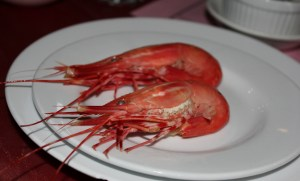 """Spot Prawns: Chili & green onion dip, Wok-fried with Virgin soy sauce, Flambé & drunken with Chinese """"Er Guo Tou"""" rice wine, Fried & salt & peppered coated"""