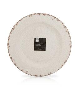 PC Melamine Rustic Dinner Plate (11) - $4