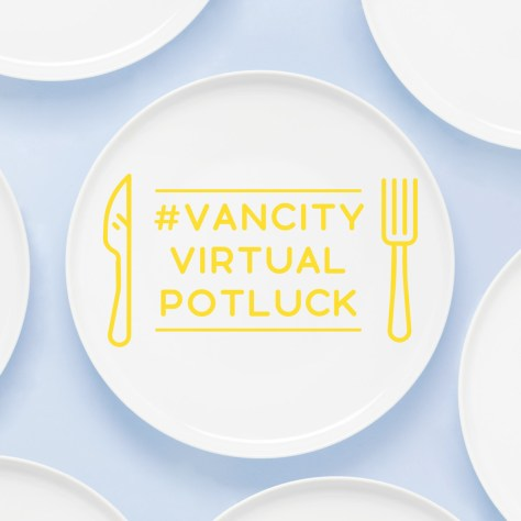 virtual potluck social graphic