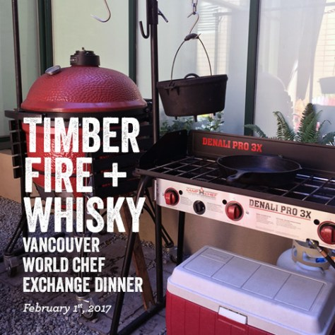 Fire Whisky Vancouver World Chef Exchange Dinner