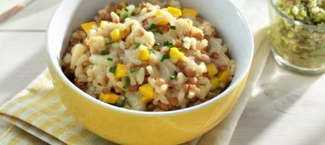 lentil zucchini risotto
