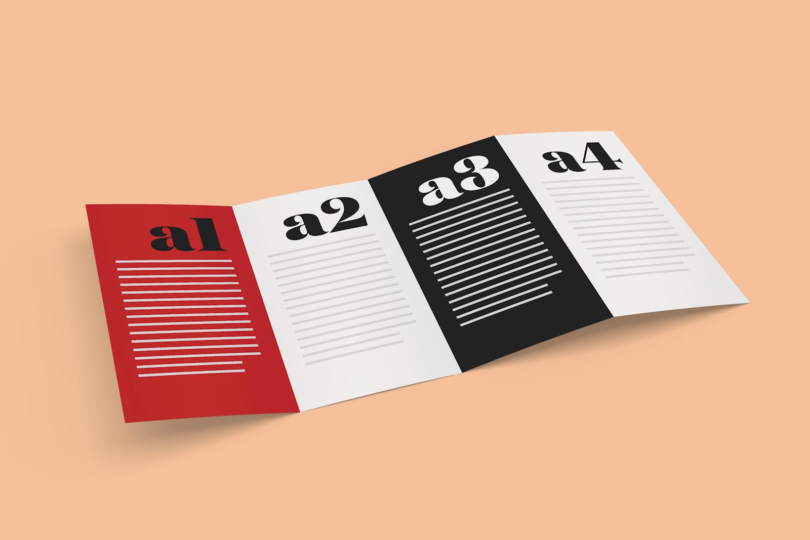 quad fold brochure