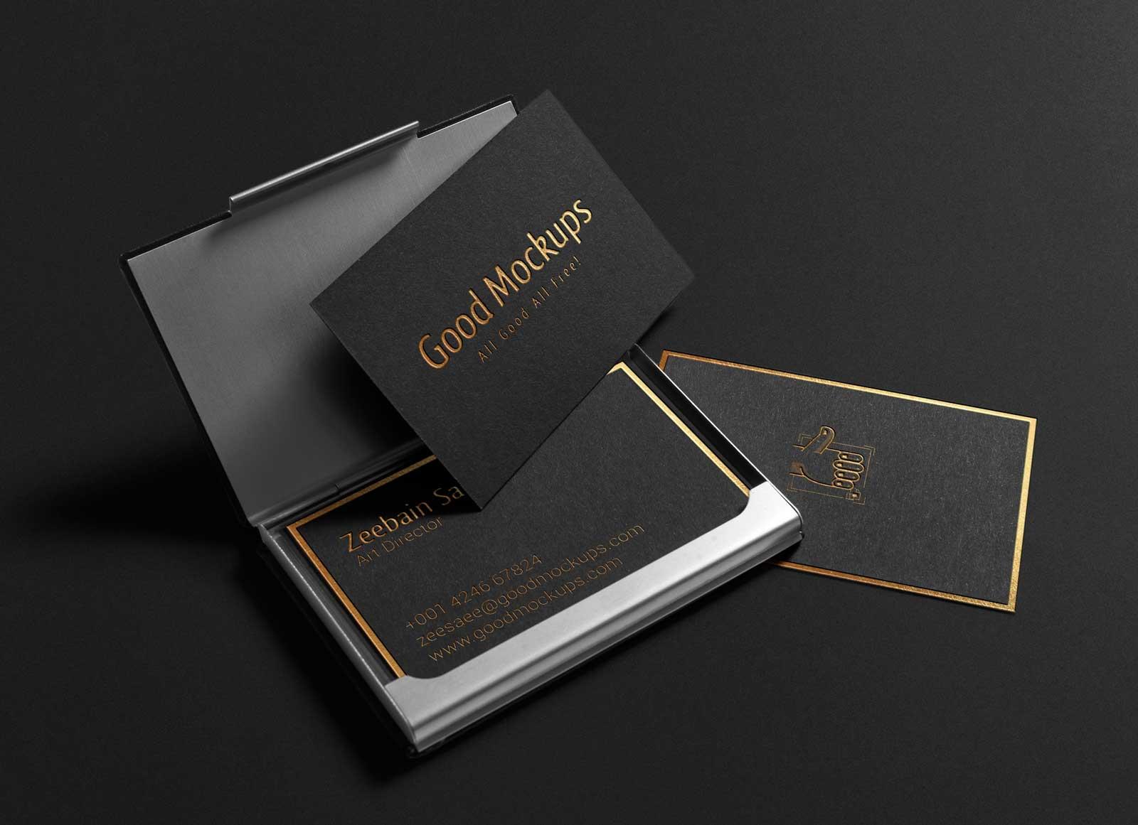 Fullsize Of Black Business Cards