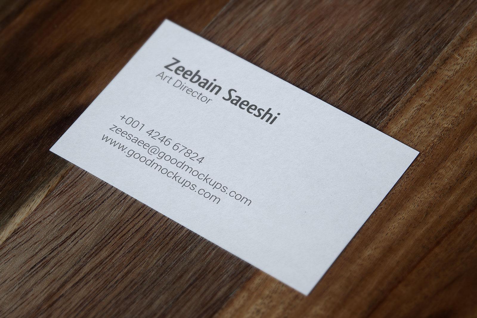 business card mockup psd free