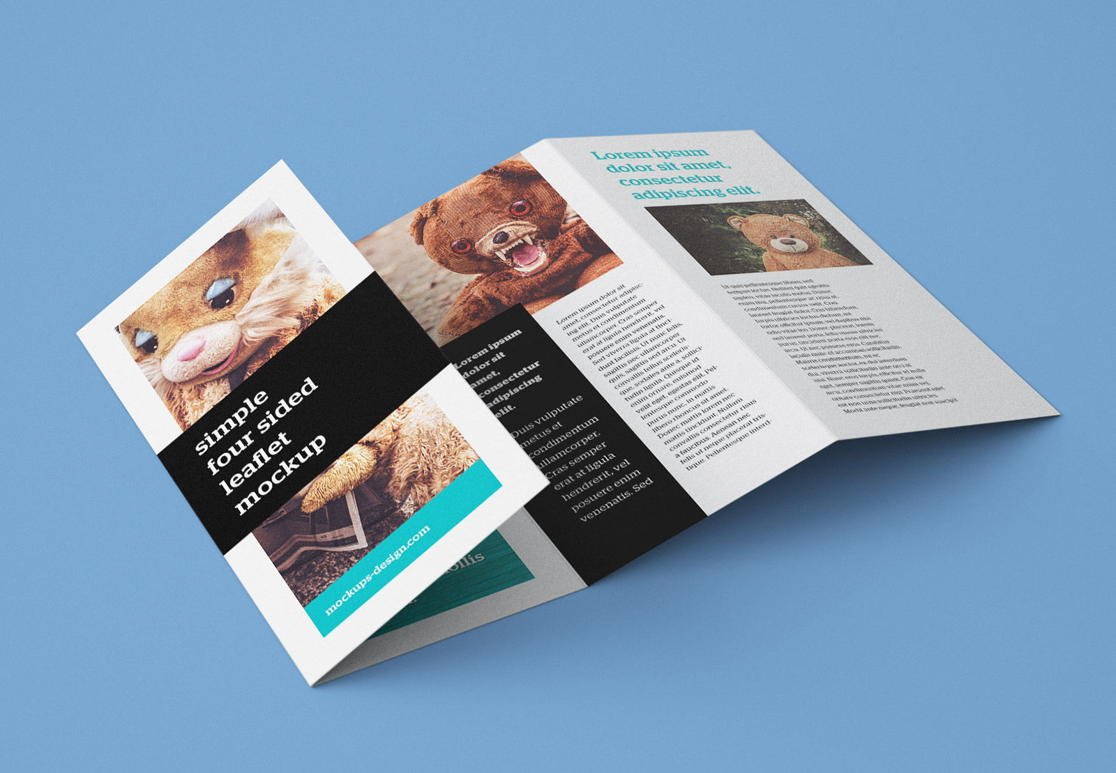 four fold brochure templates