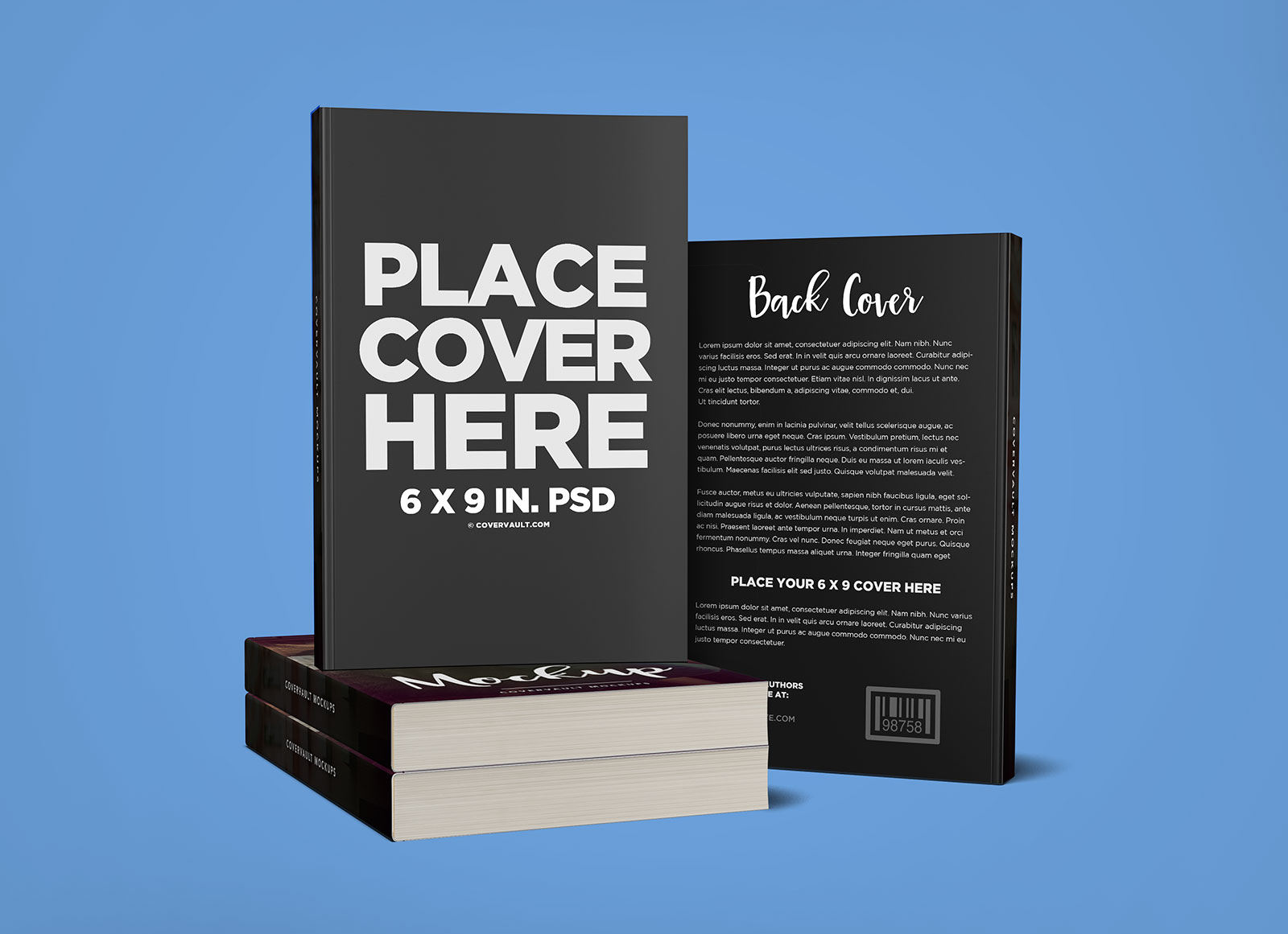 Mockup Free Magazine Cover Free Stacked Books With Back Cover Mockup Psd - Good Mockups
