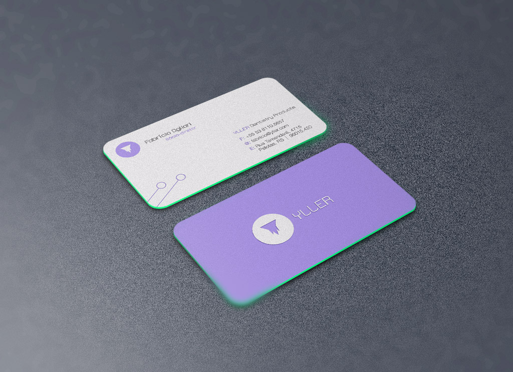 Free Rounded Corners Front / Back Business Card Mockup PSD - Good