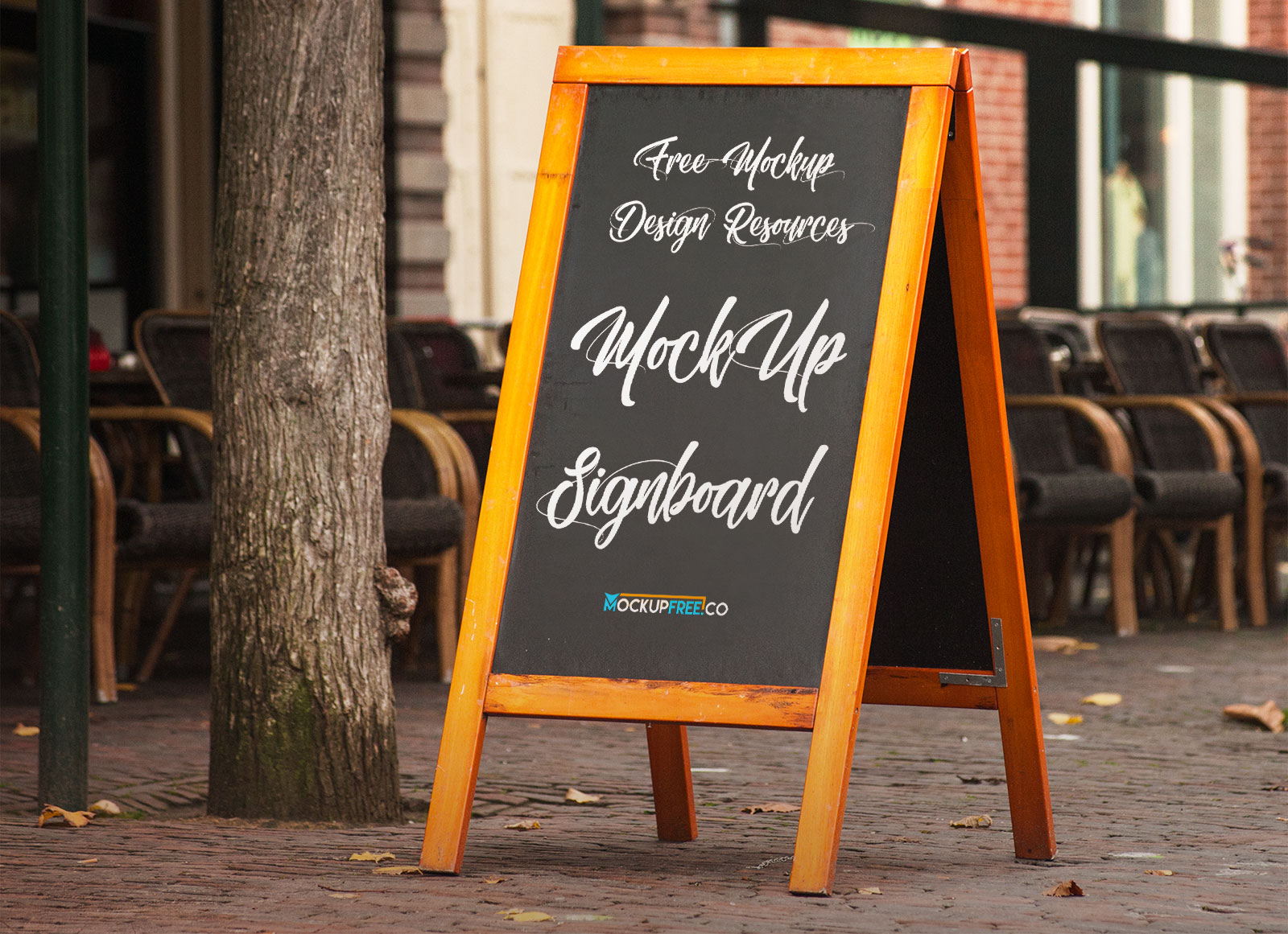 Mockup Iphone And Ipad Free A-stand Wooden Chalkboard Mockup Psd - Good Mockups