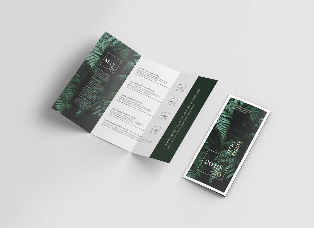 Free US Letter Tri-Fold Brochure Mockup PSD - Good Mockups
