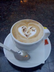 Funny Good Morning Messages_Good Morning My Love_Smiling Coffee