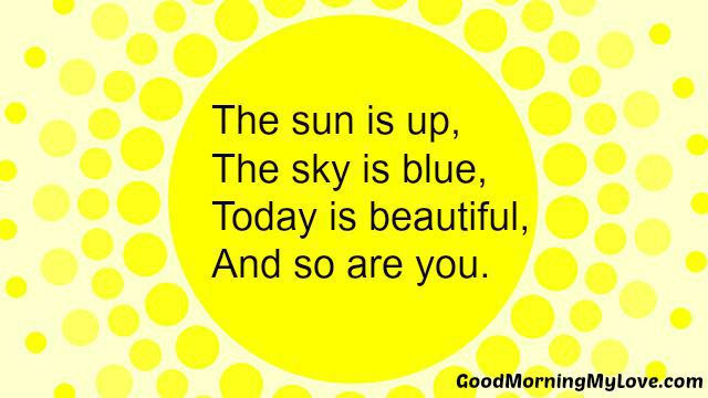 good morning poems for her