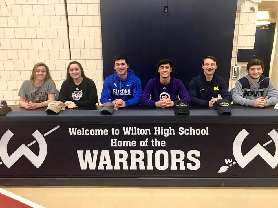 Wilton\u0027s High School Seniors Sign National Letters of Intent for