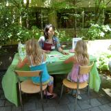 Intern at Legacy Health conducting a therapeutic garden session