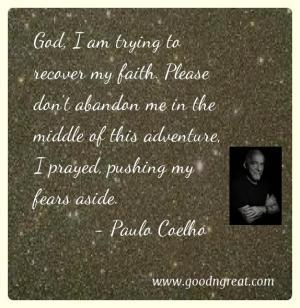 Prayer GoodNGreat Quotes Paulo Coelho