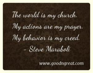 Prayer GoodNGreat Quotes Steve Maraboli
