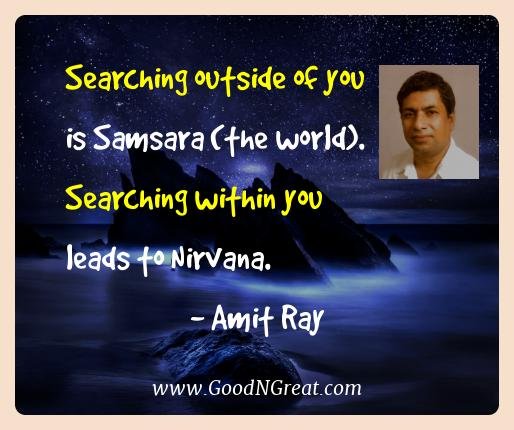 Amit Ray Best Quotes  - Searching outside of you is Samsara (the world). Searching