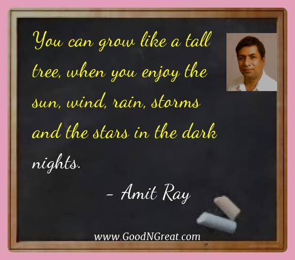 Amit Ray Best Quotes  - You can grow like a tall tree, when you enjoy the sun,