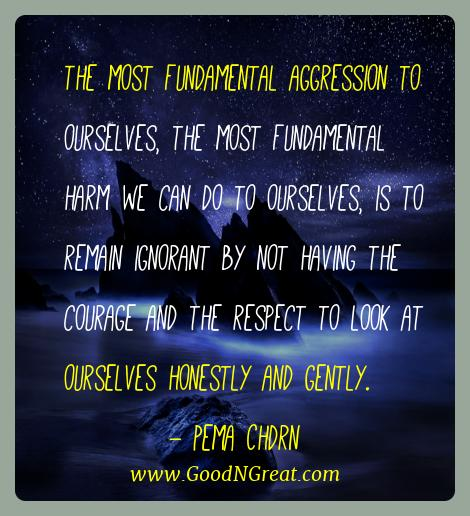 Pema Chdrn Best Quotes  - The most fundamental aggression to ourselves, the most
