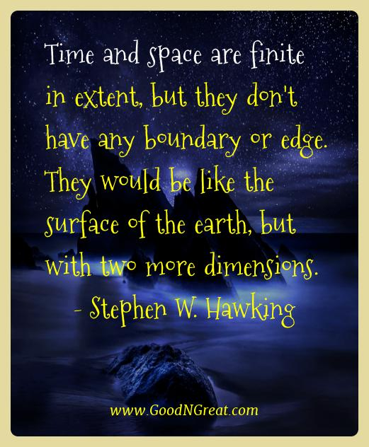 Stephen W. Hawking Best Quotes  - Time and space are finite in extent, but they don't have