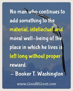 Booker T. Washington Karma Quotes 1
