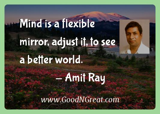 Amit Ray Inspirational Quotes  - Mind is a flexible mirror, adjust it, to see a better