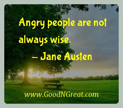 Jane Austen Inspirational Quotes  - Angry people are not always
