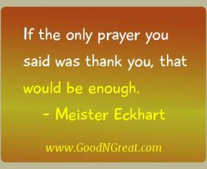 Meister Eckhart Gratitude Quotes